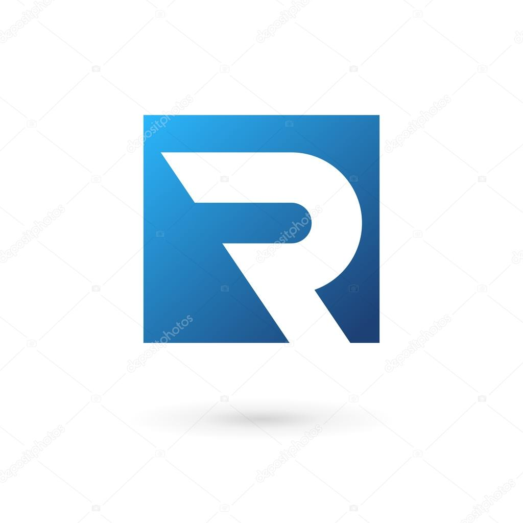 letter r logo icon design template elements stock vector