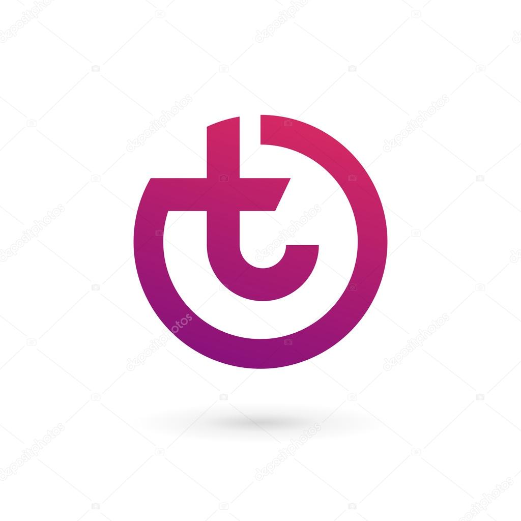 letter t logo icon design template elements stock vector