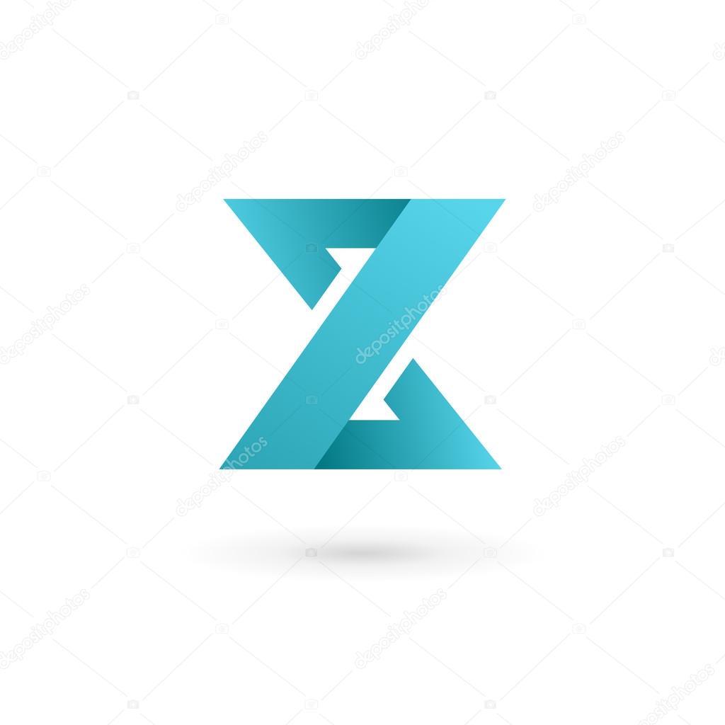 elementos de plantilla de dise241o de letra z logo icono