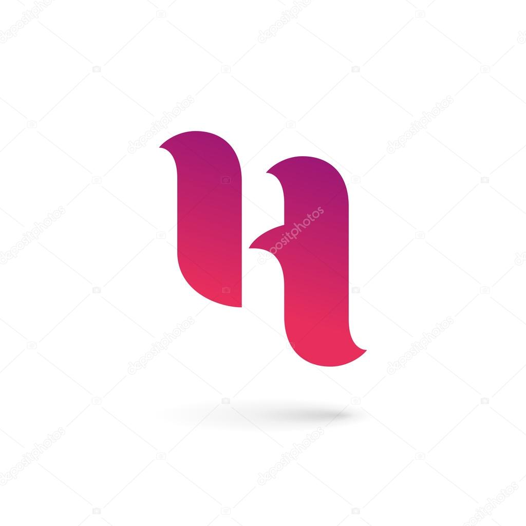 letter h logo icon design template elements stock vector