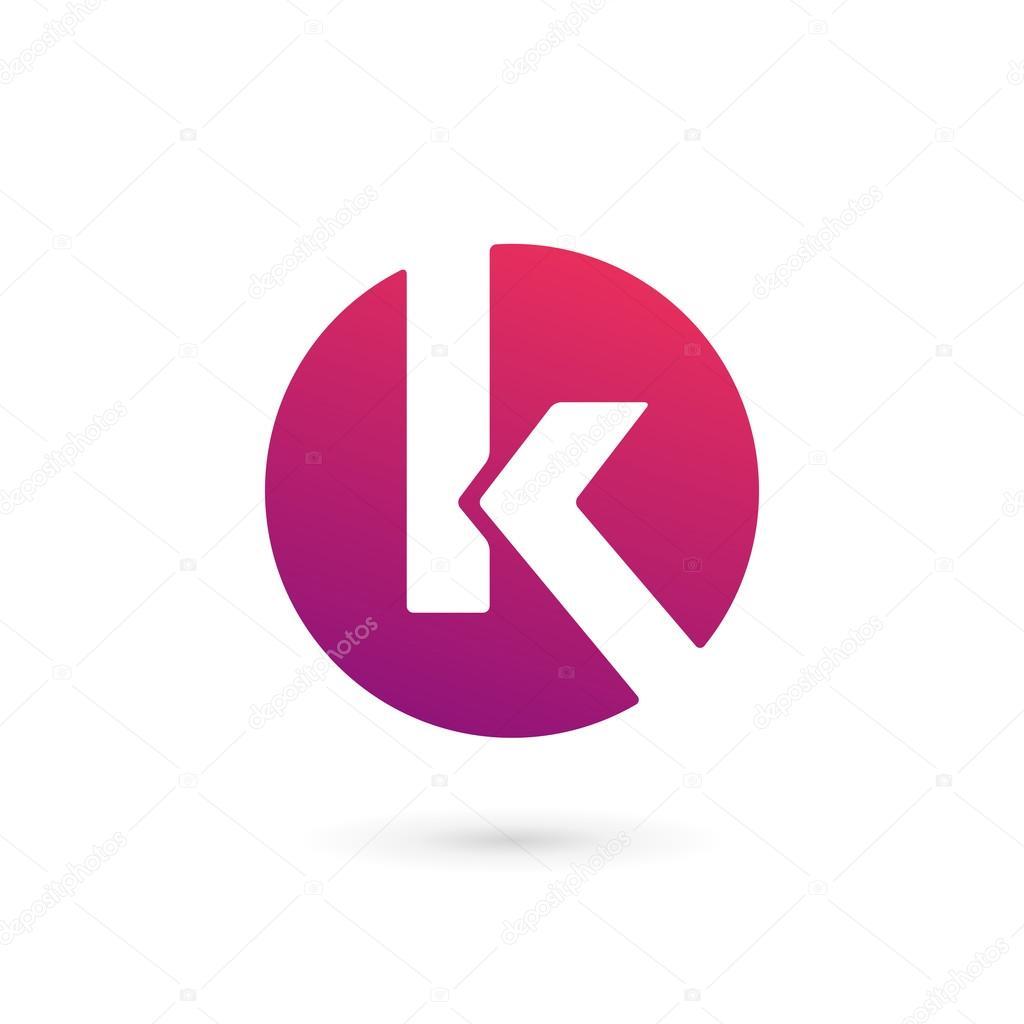 Letter K logo icon design template elements — Stock Vector
