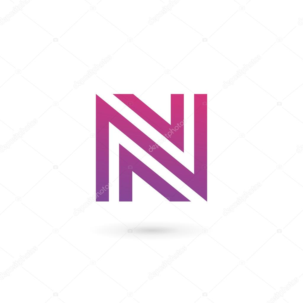 letter n logo icon design template elements stock vector