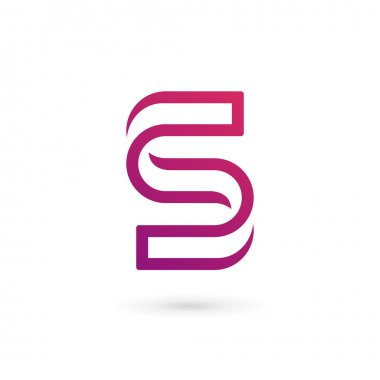 Letter S number 5 logo icon design template elements