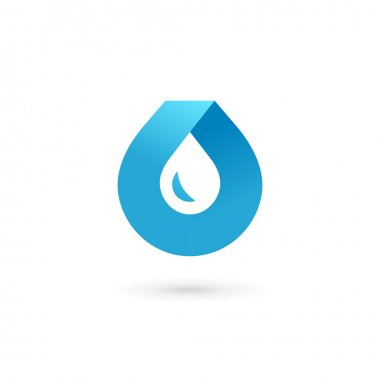 Water drop symbol logo design template icon. May be used in ecol