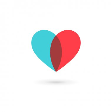 Heart symbol logo icon design template. May be used in medical,