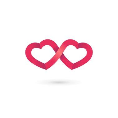 Heart infinity loop logo icon design template elements