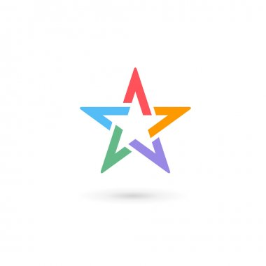 Abstract star logo icon design template elements