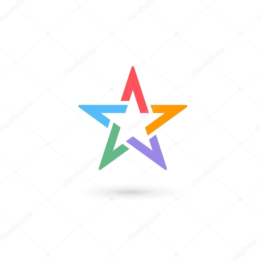 abstract star logo icon design template elements � stock