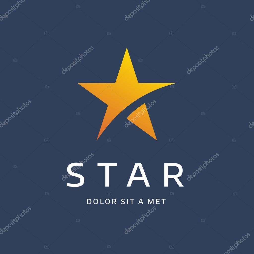 Elementos de plantilla de diseño de logo estrella abstracta icono ...
