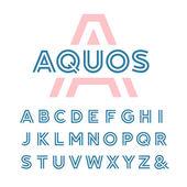 Lineární písmo. Vektorové písmo Latinské dopisy
