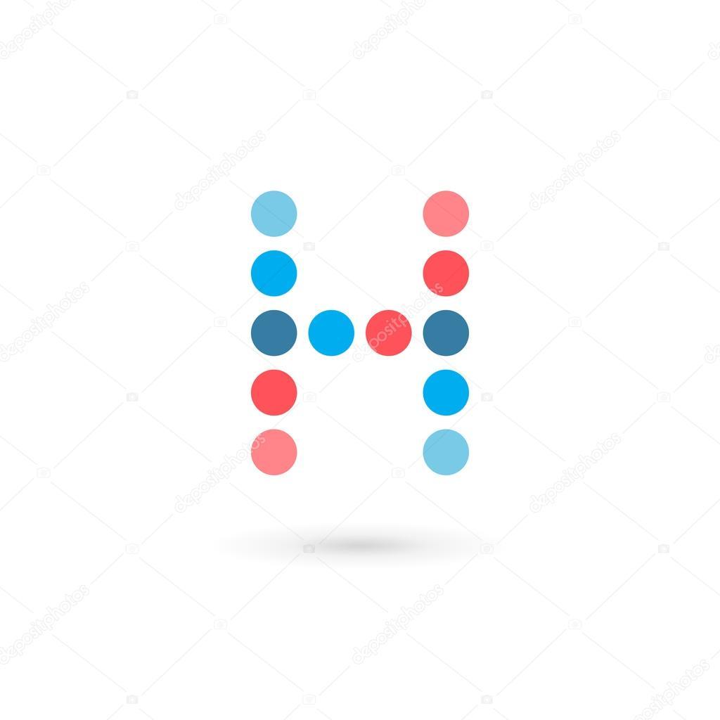 letter h logo icon design template elements stock vector arbuzu