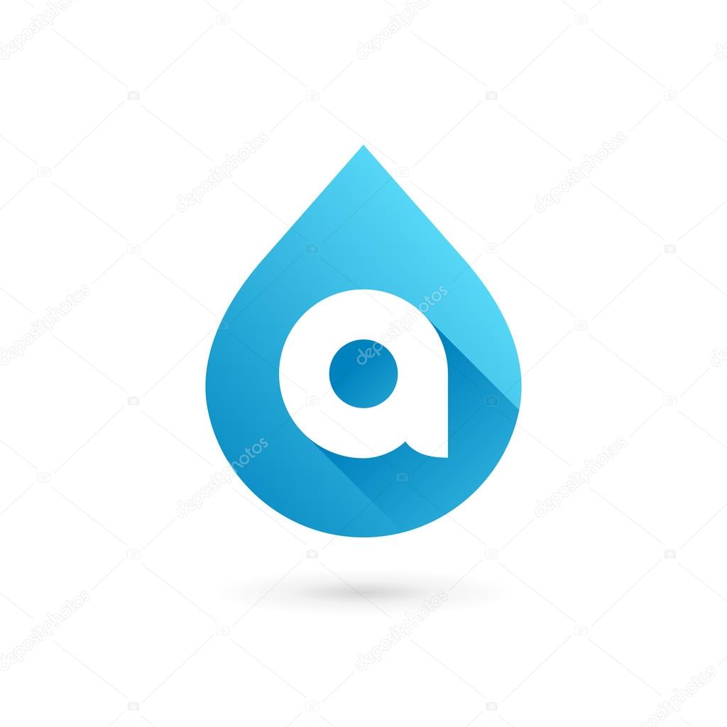 Letter A water drop logo icon design template elements — Stock ...