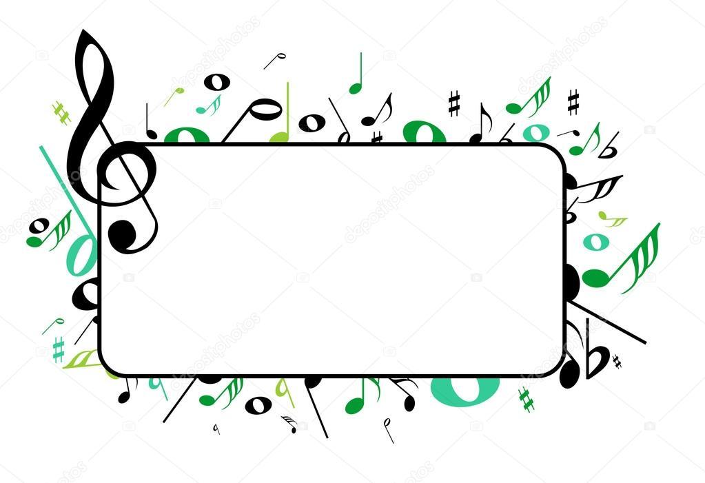 music frame — Stock Vector © houbacze #74926667