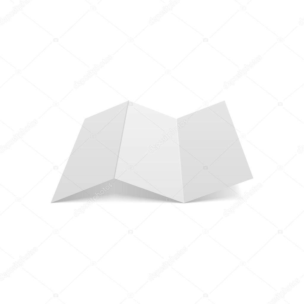 Dreifach Falten realistische leeren a4 Dokumente — Stockvektor ...