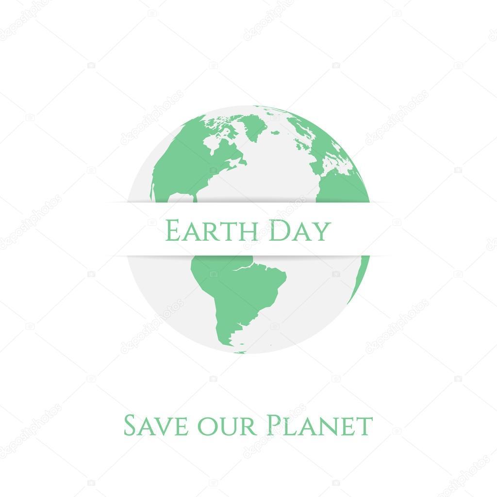 Tierra día planeta Banner plantilla — Archivo Imágenes Vectoriales ...