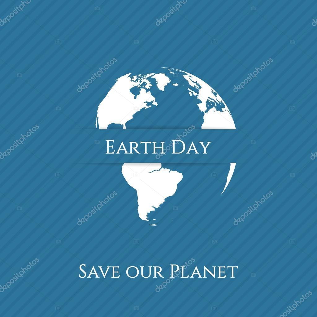 Imprimir día de la tierra verde. Plantilla de banner — Archivo ...