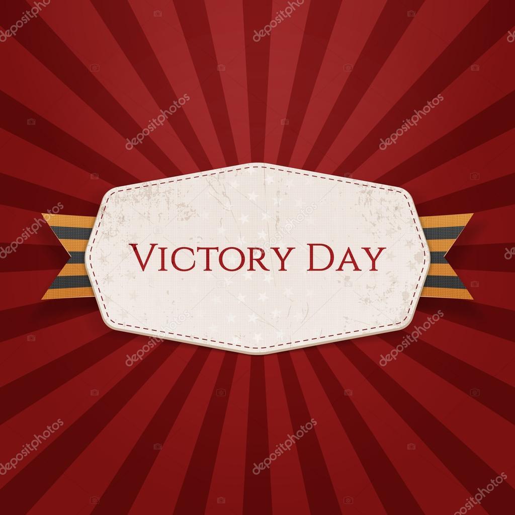 Papel realista de Victoria día plantilla de Banner — Vector de stock ...