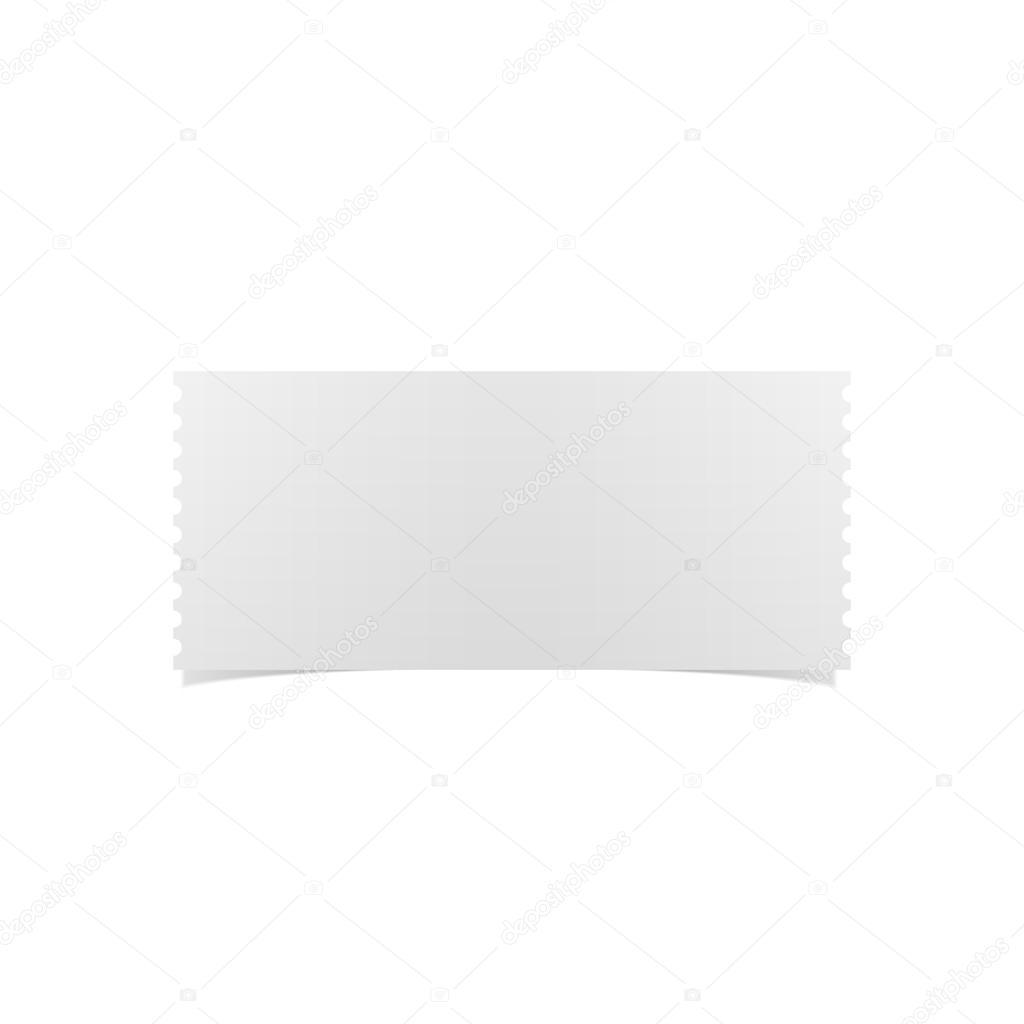 Leere weiße realistische Ticketvorlage — Stockvektor © Slavaleks ...