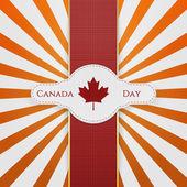Den Kanady státní znak s červenou stužku