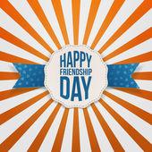 Šťastný den odznak přátelství s modrou stužkou