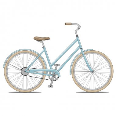 Blue Bike Illustration