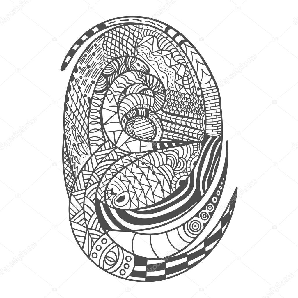 Dekoratives Schlange Muster Zeichnen Stockfoto Slavaleks 80130994