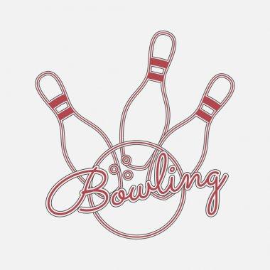 Bowling red Neon Logo