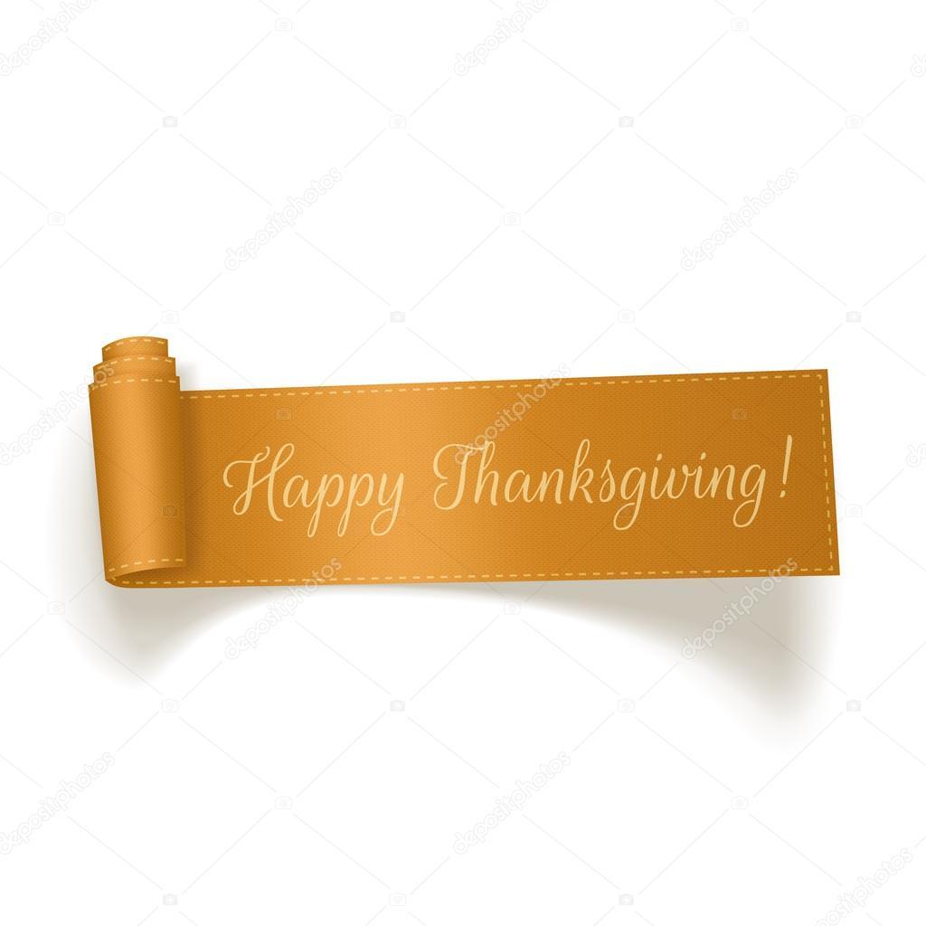Thanksgiving yellow Ribbon on white Background
