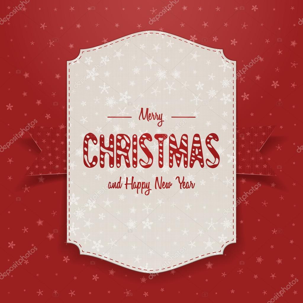 Navidad plantilla de cartel grande realista — Archivo Imágenes ...