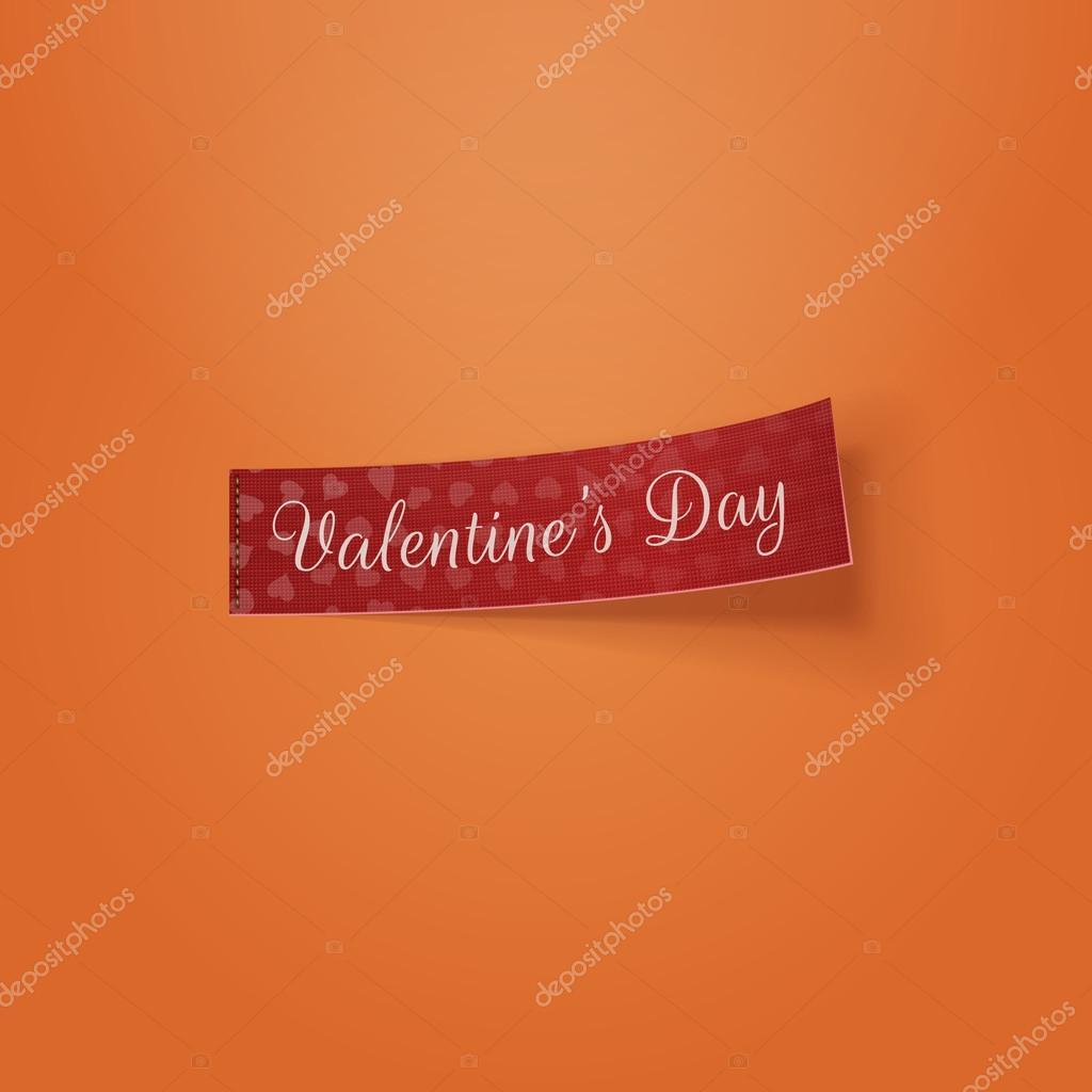 Valentinstag realistische Tag Vorlage — Stockvektor © Slavaleks ...