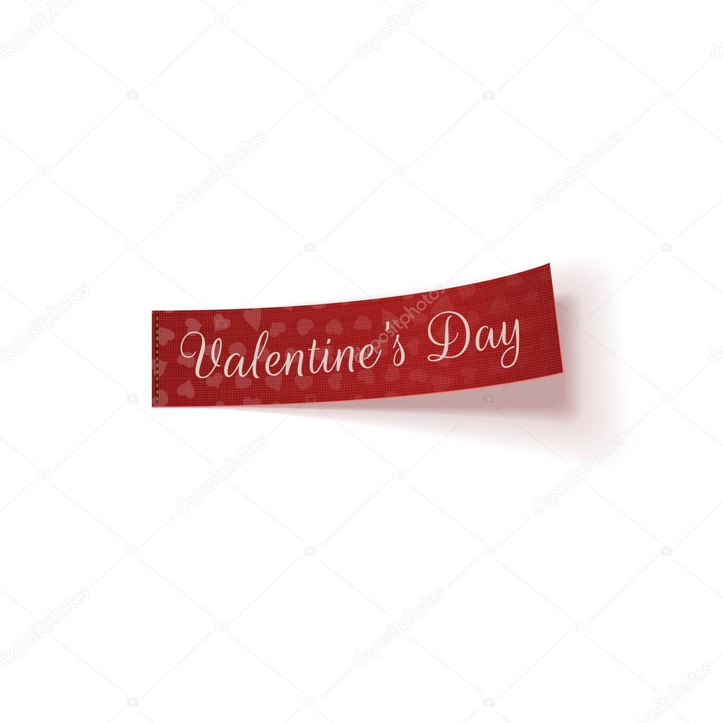 Valentinstag rote Vektor-Tag mit Herz-Muster — Stockvektor ...
