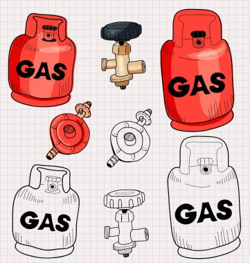 gas in doodle style