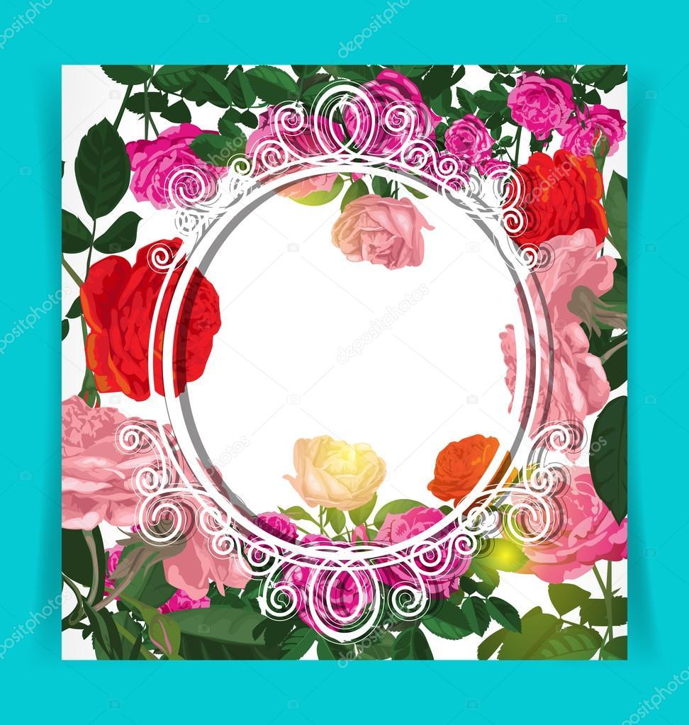 wedding invitation card — Stock Vector © theerapolsriin