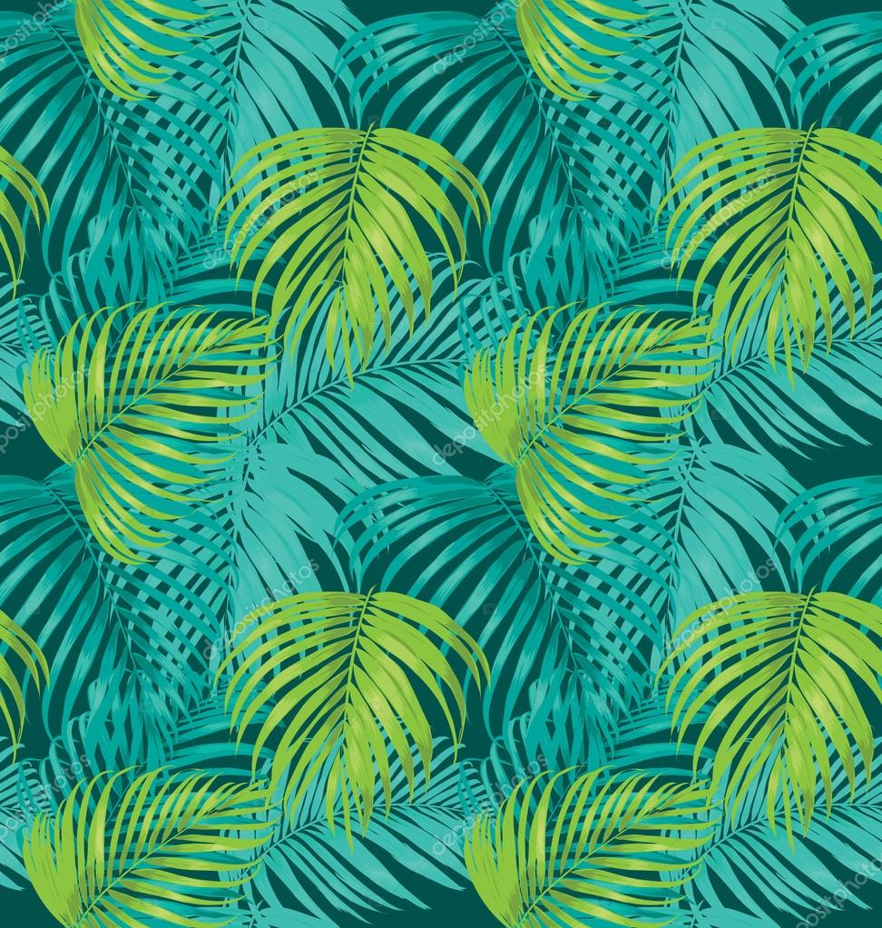 Palm Leaf Pattern Stock Vector