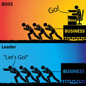 Go! or Lets Go!, Leader Business or Boss Business