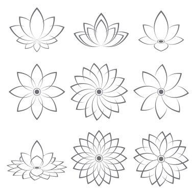 Lotus Symbol icon design. Vector illustration