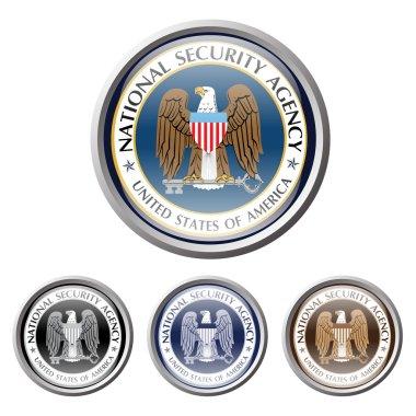 Emblem of us american secret service. national security agency