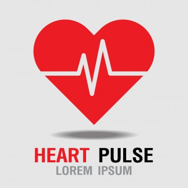 Heart Pulse icon. Heart Rate Icon. Vector Illustration
