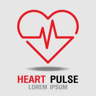 Heart Pulse icon. Heart Rate Icon. Vector Illustration