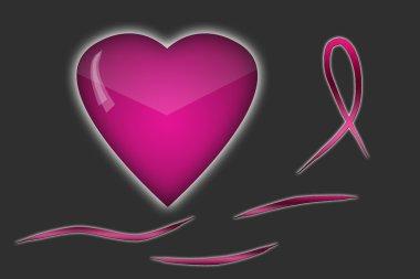 Breast cancer awareness month symbols background. World Cancer Day