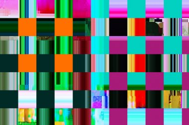 colorful abstract background texture. glitches, distortion on the screen broadcast digital TV satellite channels