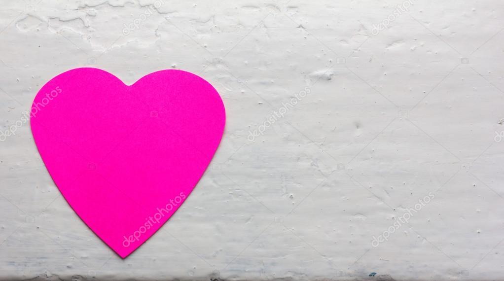 Valentine - Papier Herzen Magenta Farben gegen den weißen ...