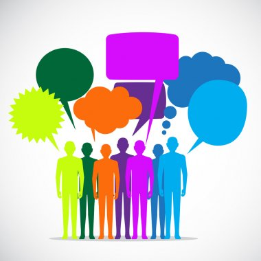 People Colorful Speech Bubbles