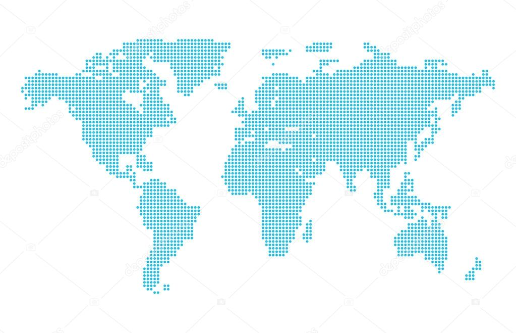 Dotted world map stock vector 13goat 56547215 abstract computer graphic dotted world map vector illustration vector by 13goat gumiabroncs Choice Image
