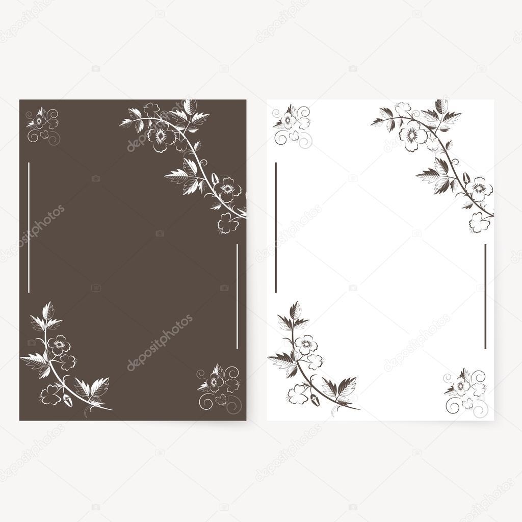 c246763dd03ea Plantilla de vectores para carpeta y tarjetas de invitación — Vector de  stock