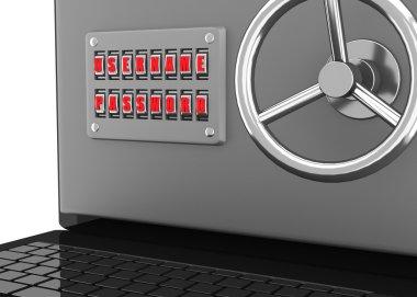Notebook - safe. 3d render. Illustration.
