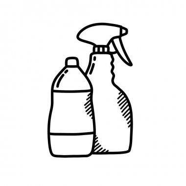 Detergents doodle icon, vector illustration icon