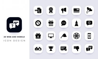 Minimal flat web and mobile icon pack. In this pack incorporate with twenty different web and mobile icon. icon