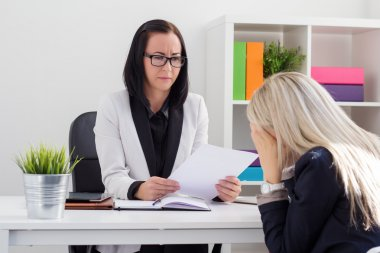 Dismissal or failed job interview concept
