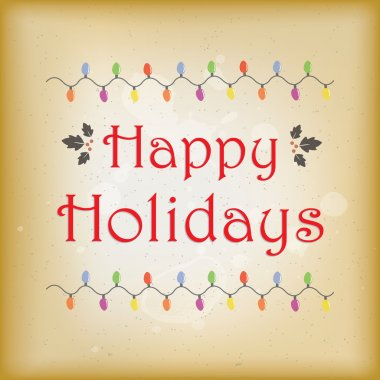 Vector illustration vintage style happy holidays greeting